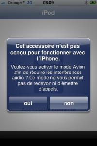 AccessoirePasCompatible